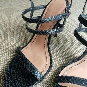 Zara WOMAN Black Strappy Heel